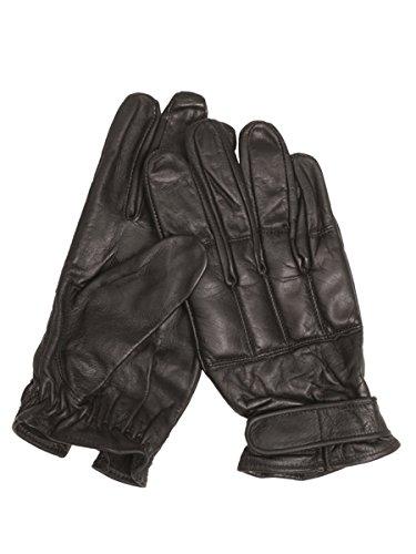 Militär b Gants en cuir de quartz - Noir - Taille XL