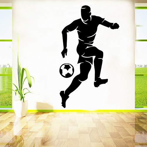 Tianpengyuanshuai Fußball wasserdichte Wandaufkleber Wohnkultur Wohnzimmer Schlafzimmer Wandaufkleber 123X63cm