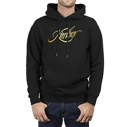 Mens Vintage Hoodies Kimber-Sniper-Rifle-Firearms-Flash-Gold- Best Casual Sweatshirt Comfort Stylish Pocket Sweaters