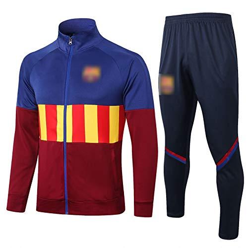 BVNGH Traje de Entrenamiento de Camiseta de fútbol de Barcelona, 2021 Nueva Temporada de Manga Larga de fútbol Jerseys de fútbol, Camiseta Unisex Swingman Camiseta CAM Barcelona-XXL