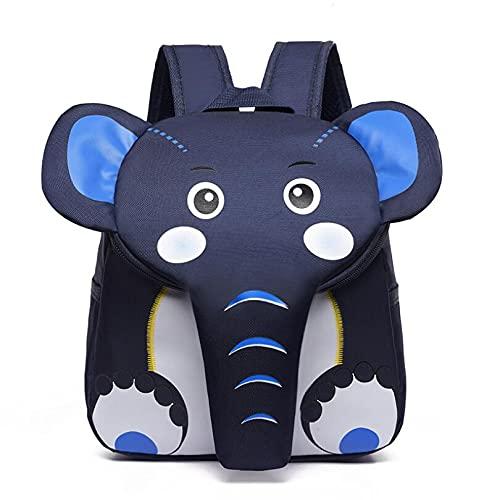 FoscaKo Zaino Bambini Elefante, Zainetti per bambini, Per Asilo Vari Colori (Blu)