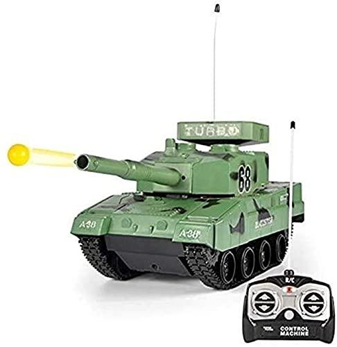 PTTYDDY Control Manual Rc Battle Tank RC BB Panzer Tank Radio Control Remoto Tanque De Batalla Militar Para Niño Juguetes Militares Que Disparan Airsoft Bullets Boy Girls Hobby Cumpleaños Juguete De R