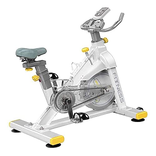 SAFGH Spin Bike, Cyclette Indoor Cyclette Heavy Duty Cyclette, Cyclette Cardio Indoor Regolabile per Palestra di casa, Trasmissione a Cinghia e Monitor LCD