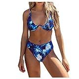 MomTop - Conjunto de bikini para mujer, diseño vintage