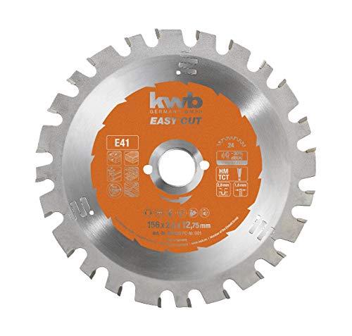 kwb Easy-Cut Kreissägeblatt für Handkreissägen 584133 (156 x 12.7 mm, 24 Zähne, Spezial-Wechselzahn, Allzweckblatt) u. a. für Black & Decker Handkreissäge DN 57