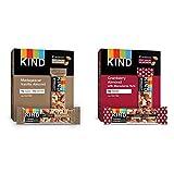 KIND Bars, Madagascar Vanilla Almond, Gluten Free, Low Sugar, 1.4oz, 12 Count & Bars, Cranberry...