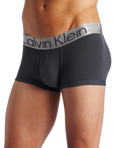 Calvin Klein Men's Steel Micro Low Rise Trunks, Mink, Large