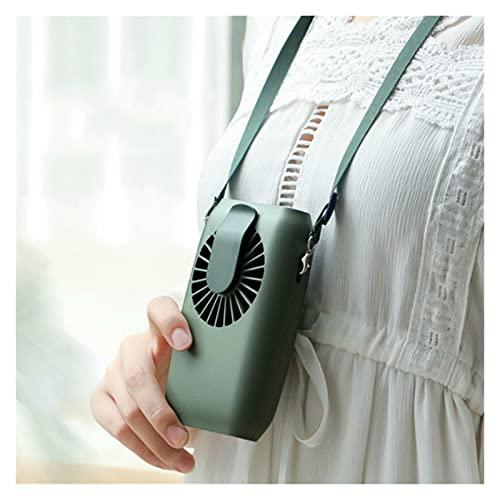 youwu - Ventilatore da equitazione con porta USB, per la ricarica e il collo elettrico, mini ventilatore portatile da tavolo (colore: verde)
