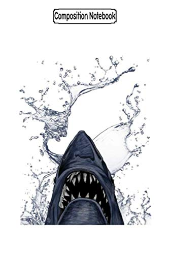 Composition Notebook: Rampage of the Man-Shark Puzzle Grabber Sprinkles Rug Teacher Teeth Cake Jaw Shark Notebook Journal Notebook Blank Lined Ruled 6x9 100 Pages