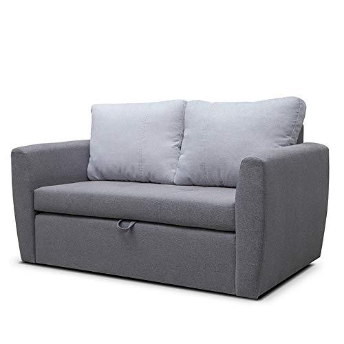 mb-moebel Sofa mit Schlaffunktion Klappsofa Bettfunktion mit Bettkasten Couch Sofagarnitur Salon Jugendzimmer SARA 120 (dunkelgrau)