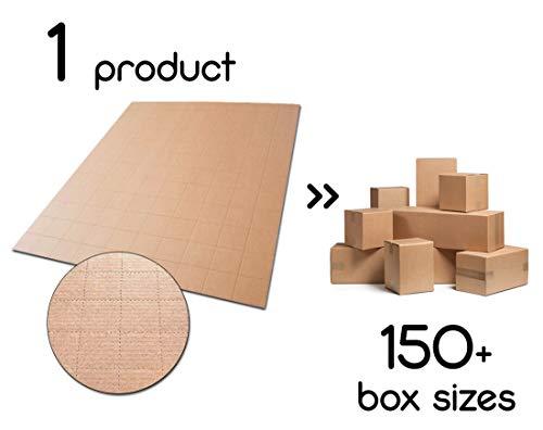 JustFoldMe Fogli di cartone perforati fai da te diy per scatole di cartone personalizzate per spedizione imballaggio imballi spedizioni postali | Varie dimensioni 5 10 15 20 25 cm misure (10 fogli)