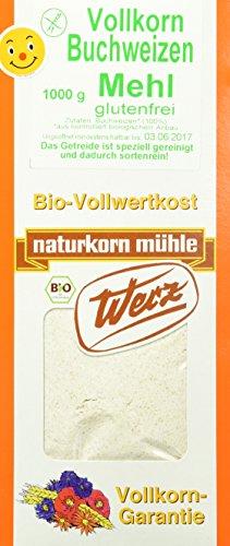 Naturkornmühle Werz Buchweizen-Vollkorn-Mehl, 1er Pack (1 x 1 kg)