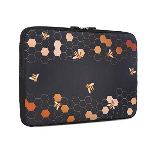 iCasso 13 - 13.3 inch Laptop Sleeve Bag, Waterproof Shock Resistant Neoprene Notebook Protective Bag Carrying Case Compatible MacBook Pro/MacBook Air - Honeycomb