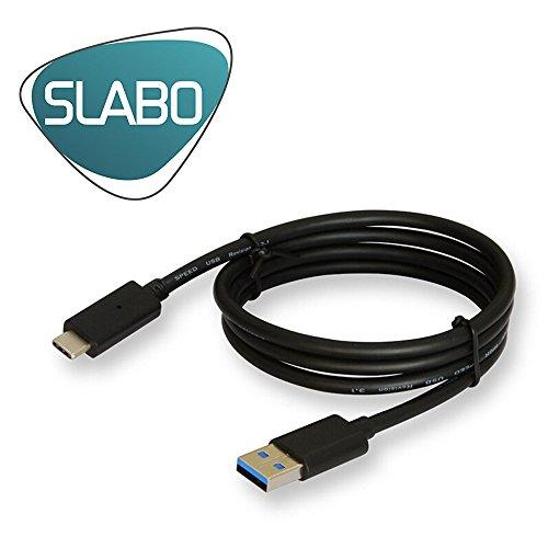 Slabo 3in1 Set di Ricarica per Samsung Galaxy M21 | M31 | S20 (4G | 5G) | S20 Ultra 5G | S20+ | S20 Plus (4G | 5G) | etc. Starter Set Cavo Dati USB-C | Ricarica per Auto | Adattatore USB Slim - Nero