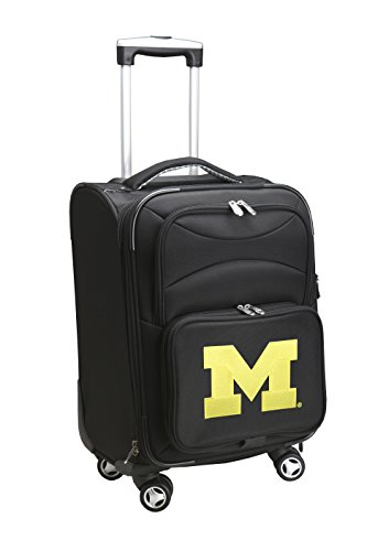 Denco NCAA Michigan Wolverines Domestic Carry-On Spinner, 20-Inch, Black