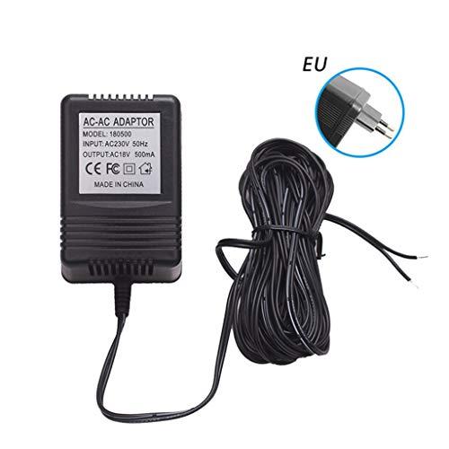 certylu Netzteil Adapter Transformator Ladegerät für Funk Türklingel IP Video Intercom Ring Kamera Zubehör 18V 500mA UK/EU/US Stecker
