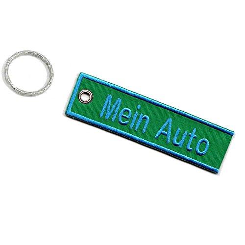 Wolfszeit Schlüsselanhänger personalisiert mit deinem Text (10x2,8cm)