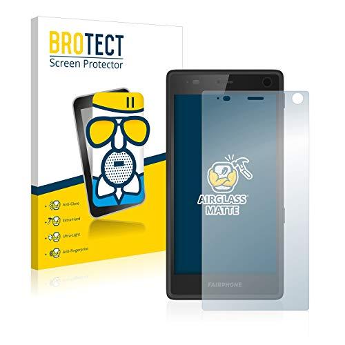 BROTECT Entspiegelungs-Panzerglasfolie kompatibel mit Fairphone 2 - Anti-Reflex Panzerglas Schutz-Folie Matt