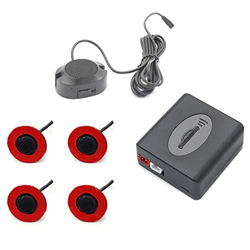 Tamkyo Sensor de Aparcamiento de VíDeo para Coche con Radares Giratorios de 16,5 MM, Sistema de Aparcamiento con Detector de Coche Ra-Dar de Respaldo Inverso Negro