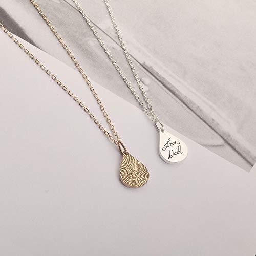 Actual-Fingerprint-Tear-Drop-Necklace