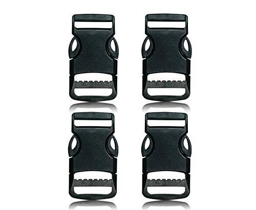 Bob-MeisterWerk Schnalle 4X25MM Clips- Steckverschluss - Steckverschluss, Kunststoff Klickverschluss, Klippverschluss, Steckschnalle, Ersatzschnalle, Klippverschlüsse für Rucksack 4X25MM-N