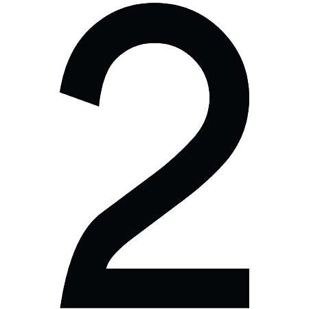 Zahlenaufkleber Schwarz 10cm 100mm Hoch Aufkleber Mit Zahlen In Vielen Farben Höhen Wetterfest Küche Haushalt