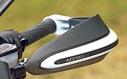 Acerbis - Dual Road - Par de protectores de manos para motos naked y Enduro. Color: Blanco/negro