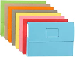 Marbig Slimpick Foolscap Document Wallet Pack of 50 (Pink)