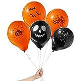 THE TWIDDLERS 100 Globos de Latex para Fiestas de Halloween - Negros y Naranja...