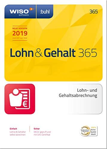 WISO Lohn & Gehalt 365 (aktuelle Version 2019) Die ideale Software für die Lohnbuchhaltung in Unternehmen | 2019 | PC | PC Aktivierungscode per Email