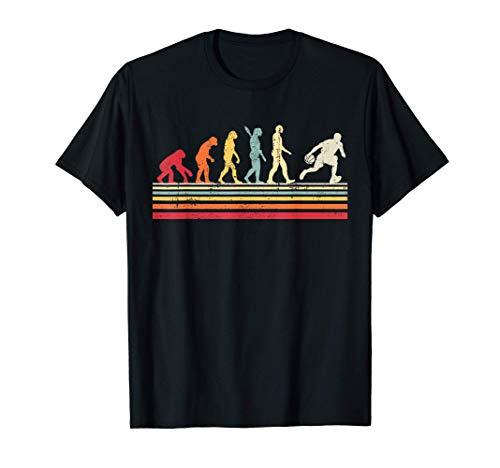 Baloncesto Divertido Evolución del Hombre Vintage Retro Men Camiseta