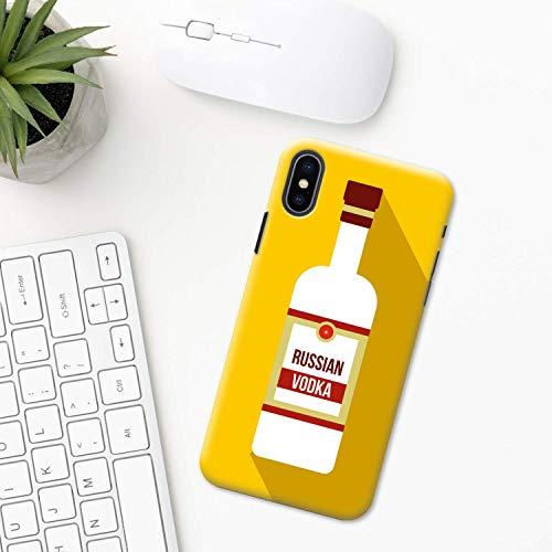 Wodka iPhone Hülle XR 11 X XS MAX Pro 8 7 Plus 6 6s 5 5s SE 2020 10 Plastik Silikon Apple iPhone phone case Alkohol trinken Russisch,