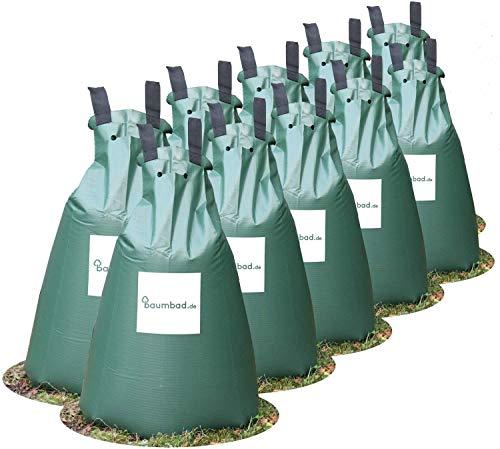 Baumbad 10 Premium Bewässerungsbeutel, PVC UV Beständig, Baumsack zur Bewässerung Grün