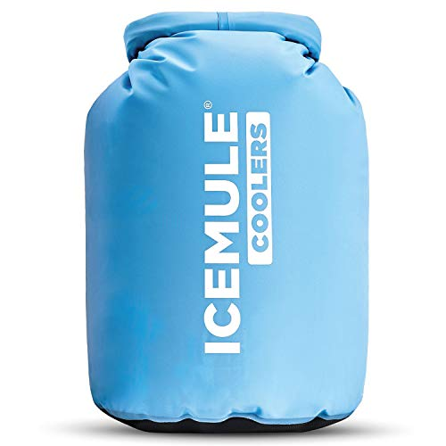 IceMule 1006 Classic Large Collapsible Portable Soft Sided Roll Top 20 Liter 18 Can Lightweight Insulated Waterproof Leak Proof Backpack Cooler Sling Bag, for Hiking, Camping, Fishing, & Picnic