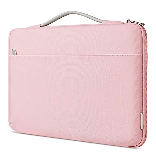 Inateck 14 Inch Laptop Case Sleeve Briefcase, Shock Resistant Bag Compatible Notebook/Chromebook/ThinkPad/Ultrabook, MacBook Pro 15 Inch 2016-2019, Surface Laptop 3 - Pink