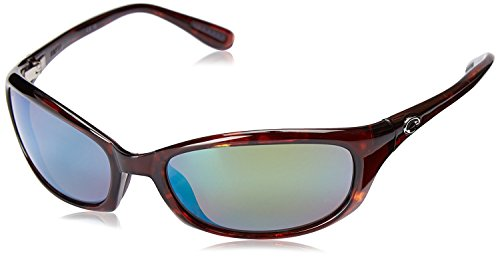 Costa Del Mar Men's Harpoon Polarized Oval Sunglasses, Tortoise/Green Mirror-580G, 62 mm