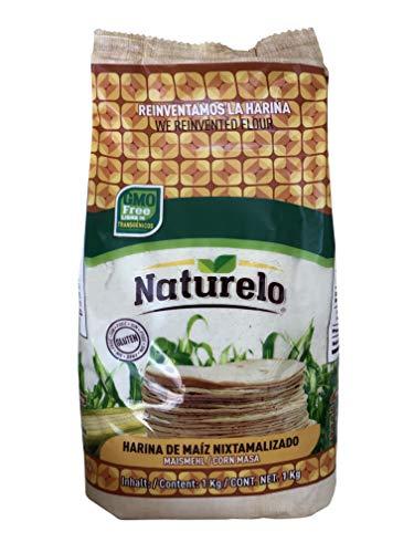 Nixtamalisiertes Maismehl aus 100% natürlichem Mais, Pack 1kg - Harina de Maiz Nixtamalizado NATURELO 1Kg