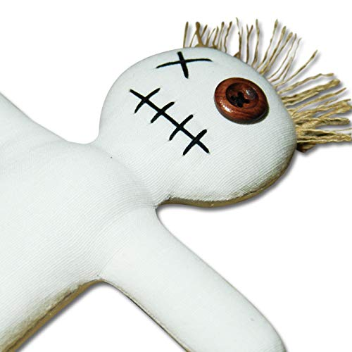 Mojo Doll White - Voodoo Puppe mit Nadel und Ritual-Anleitung