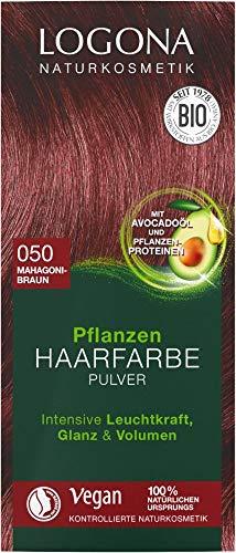 Logona Bio Pflanzen Haarfarbe Pulver 050 mahagonibraun (6 x 100 gr)