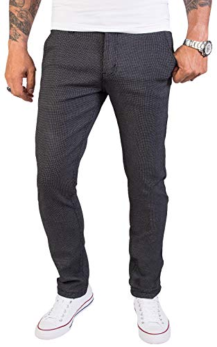 Rock Creek Herren Chino Hose Slim Fit Business Hosen Chinohose Stoffhose Chinos Hosen für Männer Casual Elegante Hose RC-2154 Anthrazit W32 L34
