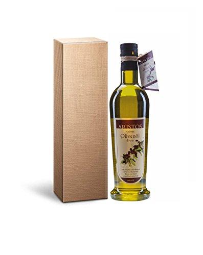 """Weihnachtsgeschenk Kaltgepresstes Griechisches Olivenöl im Geschenkkarton""""Vita"""" 500 ml   ARISTOS"""