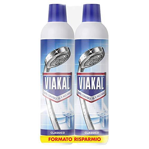 Viakal Detersivo Anticalcare Liquido Regolare, Maxi Formato 2 Pezzi da 700 ml