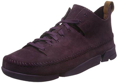 Clarks Originals Trigenic Flex, Zapatillas para Hombre, Morado (Purple Grape Nub), 44.5 EU