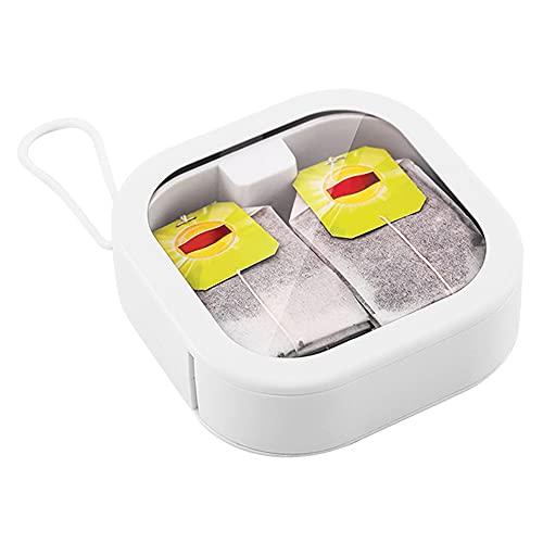 Mini caja de almacenamiento Multifunción Bolsillo de mano con asa Funda transparente Organizador de joyas Bolsa para regalo de niñas - Blanco 1 tamaño