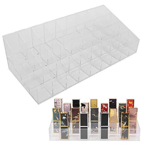 Soporte para lápiz labial acrílico, soporte para lápiz labial seguro y duradero, carcasa transparente de acrílico transparente con mujeres para pinceles, botellas para maquillaje cosmético,