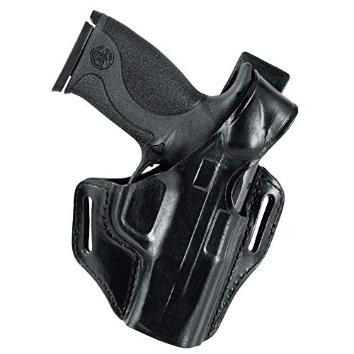 BIANCHI Model 56 Serpent Belt Slide Holster, Right Hand - SW MP 9MM/.40-4IN, Black