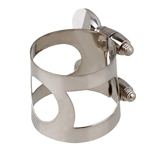 Yibuy Silver Nickel Plated Mouthpiece Ligature with Double Screws For Your Clarinet