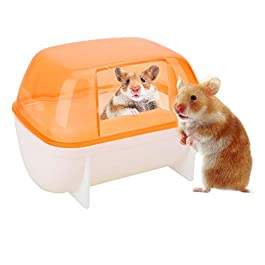 Hamster Cage Tray Small Animal Litter Tray Hamster Cage Tray Rat Litter Tray Hamster Sand Bathing Guinea Pig Bed Rabbit Toilet Rabbit Litter Tray