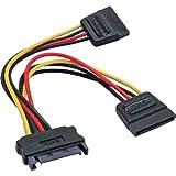 InLine SATA Strom-Y-Kabel SATA Buchse an 2x SATA Stecker 0,15m