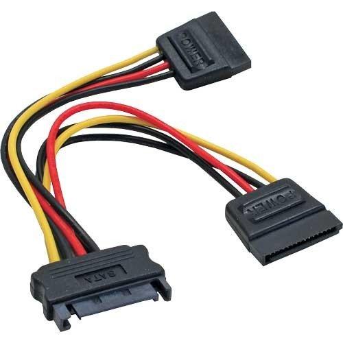 InLine 29683 SATA Strom-Y-Kabel, SATA Buchse an 2x SATA Stecker, 0,15m